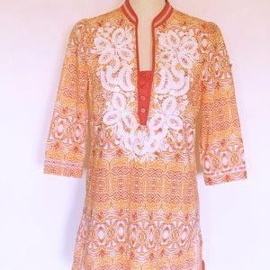 Indikka New York Batik Beaded Tunic Small